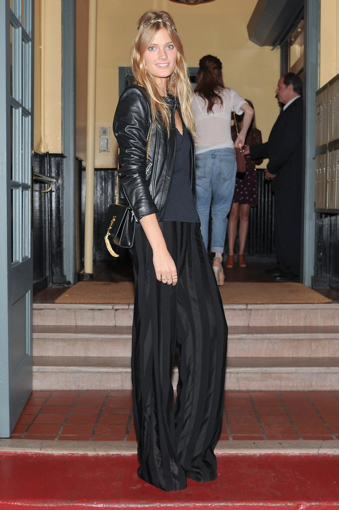 At  Barneys' Indochine dinner, Constance Jablonski was all legs in her slouchy designs.