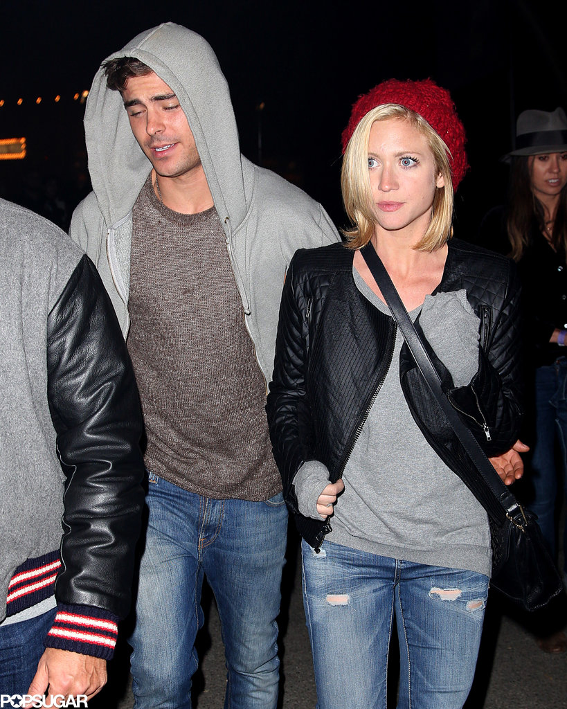 Zac Efron kept a low profile at the hayride.
