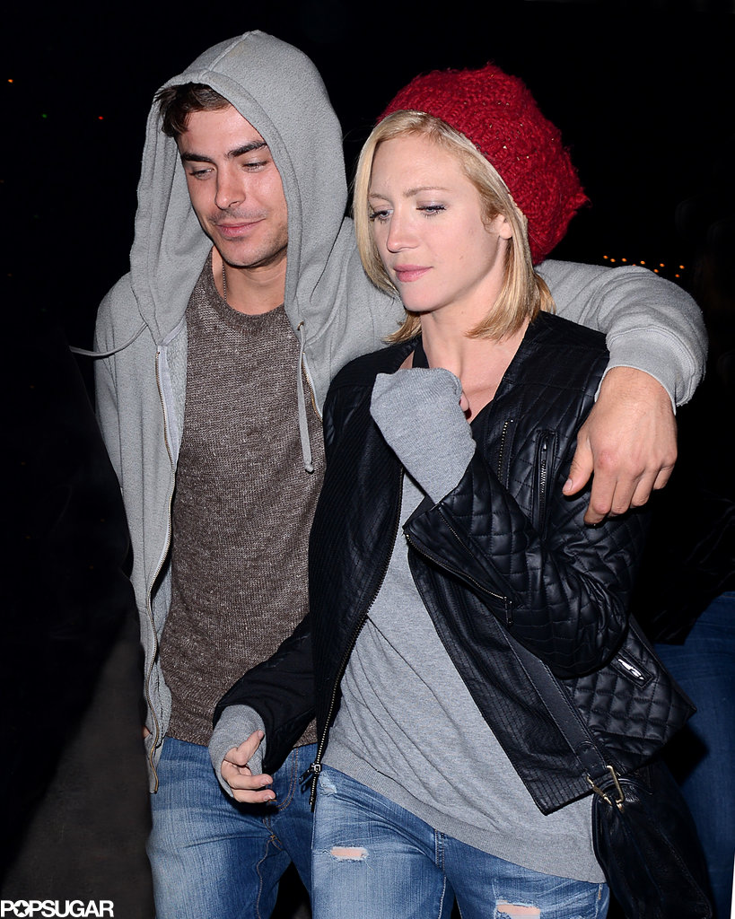 Zac Efron put his arm around his friend Brittany Snow.