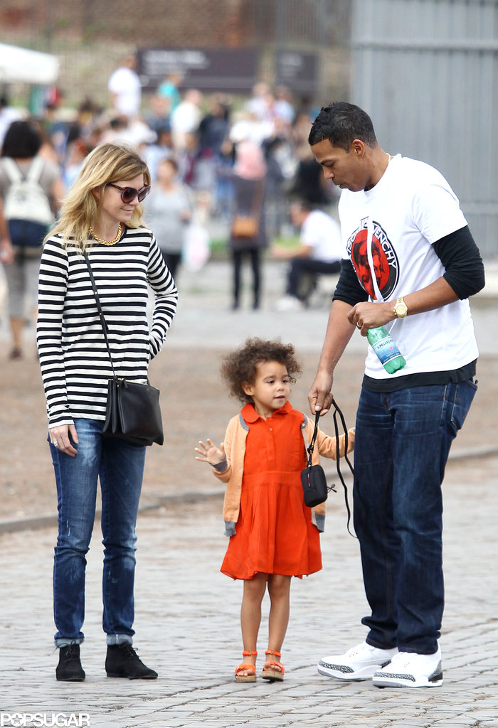 Ellen Pompeo, Chris Ivery, and their daughter, Stella, went sightseeing in Rome.