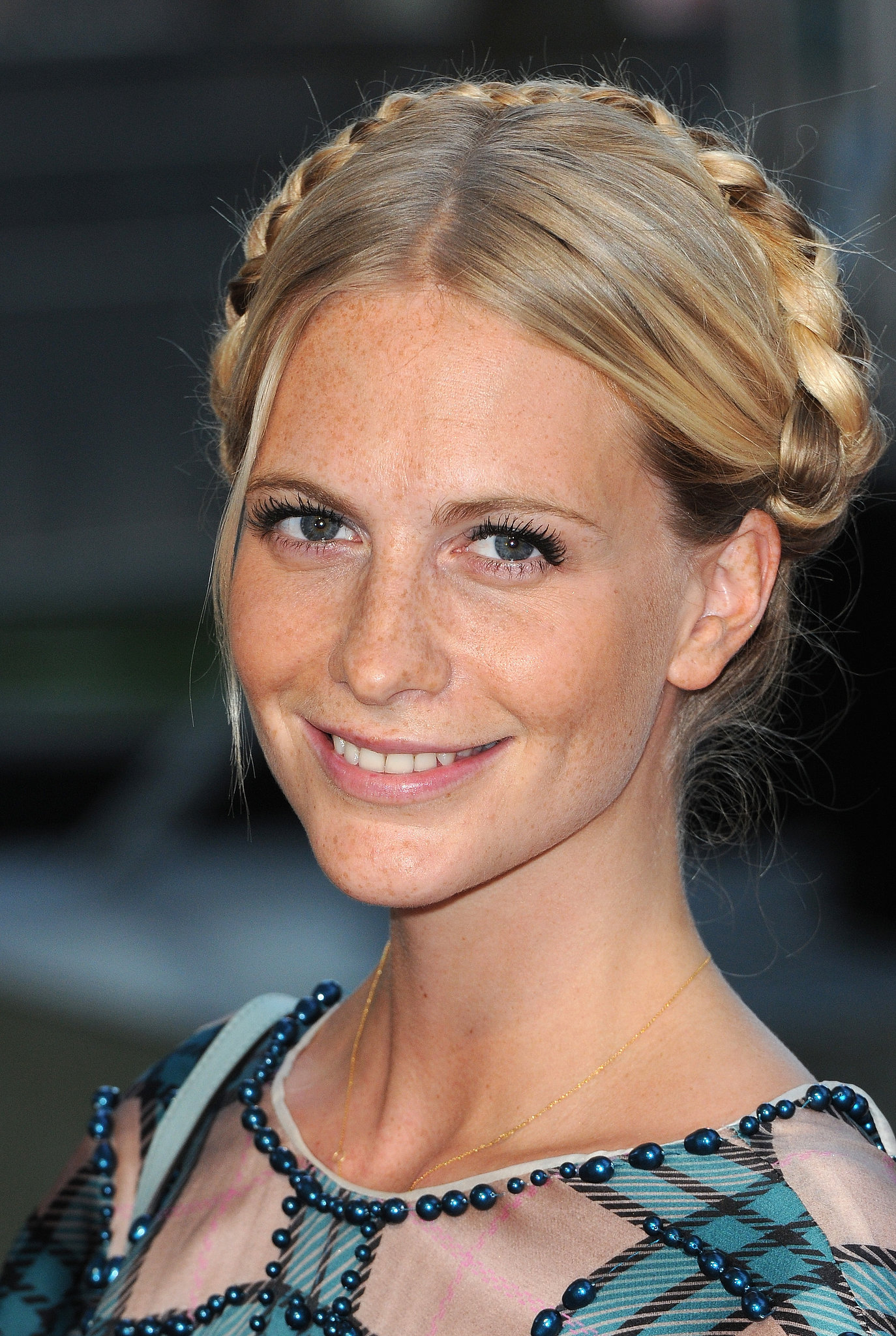 Poppy Delevingne Opted To Keep Her Milkmaid Braids Smooth