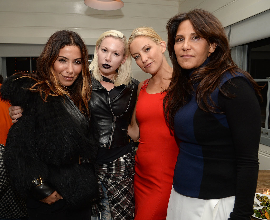 Hedi Gores, Joy Spinelli, Kate Hudson, and Laurie Stark attended a dinner for Gareth Pugh hosted by Chrome Hearts at Malibu Farm.