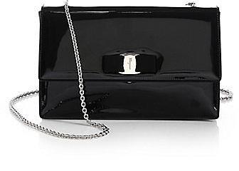 Salvatore Ferragamo Vara Ginny Piuma Patent Leather Bow Bag
