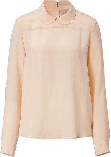 Tara Jarmon Silk Top in Cream
