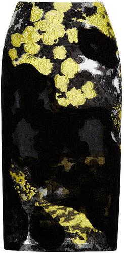 Michael van der Ham Black Lace Patchwork Skirt