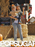 Jessica Alba brought her daughters to the pumpkin patch in LA.