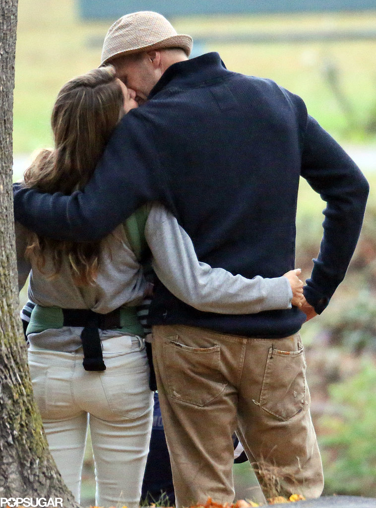 Gisele Bündchen and Tom Brady showed sweet PDA at the park.