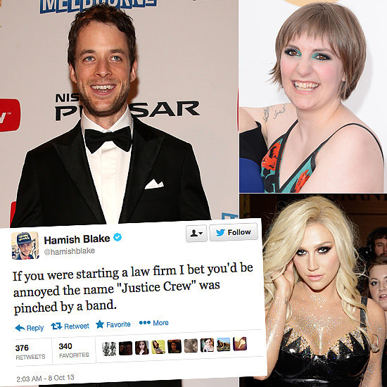 Celebrity Tweets of the Week: Hamish Blake (and Andy!), Lena Dunham, Ke$ha & More!