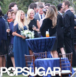Jessica Simpson posed with wedding guests.