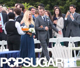 Jessica Simpson walked down the aisle with a groomsman.