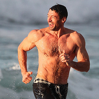 Celebrity Pictures: Hugh Jackman Shirtless, Walking Dog