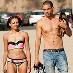 Kat Graham and Cottrell Guidry Showing PDA on the Beach