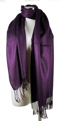 Premium Pashmina Shawl Wrap Scarf - Purple