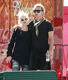 Gwen Stefani and Gavin Rossdale spent the day at Arrowhead Village.