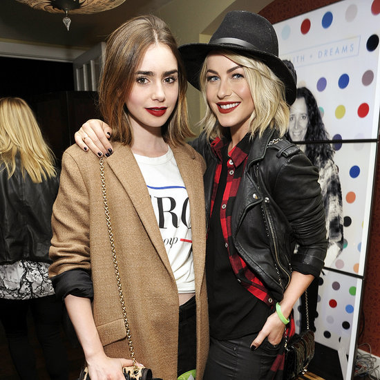 Julianne Hough and Lily Collins Red Lipstick