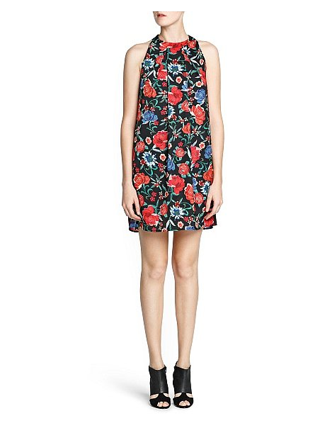 Florals in all the right Fall shades on this Mango satin-finish floral print dress ($80).