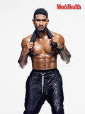 Usher showed off his shirtless body on the cover of Men's Health's November 2013 issue.