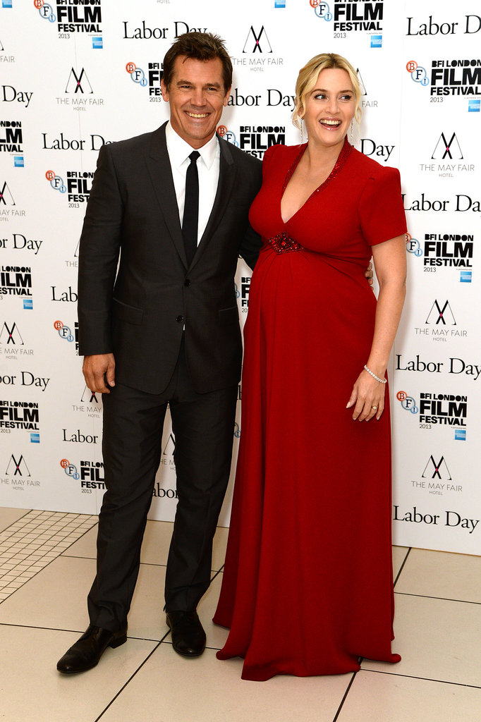 Kate Winslet and Josh Brolin posed together at the premiere in London.
