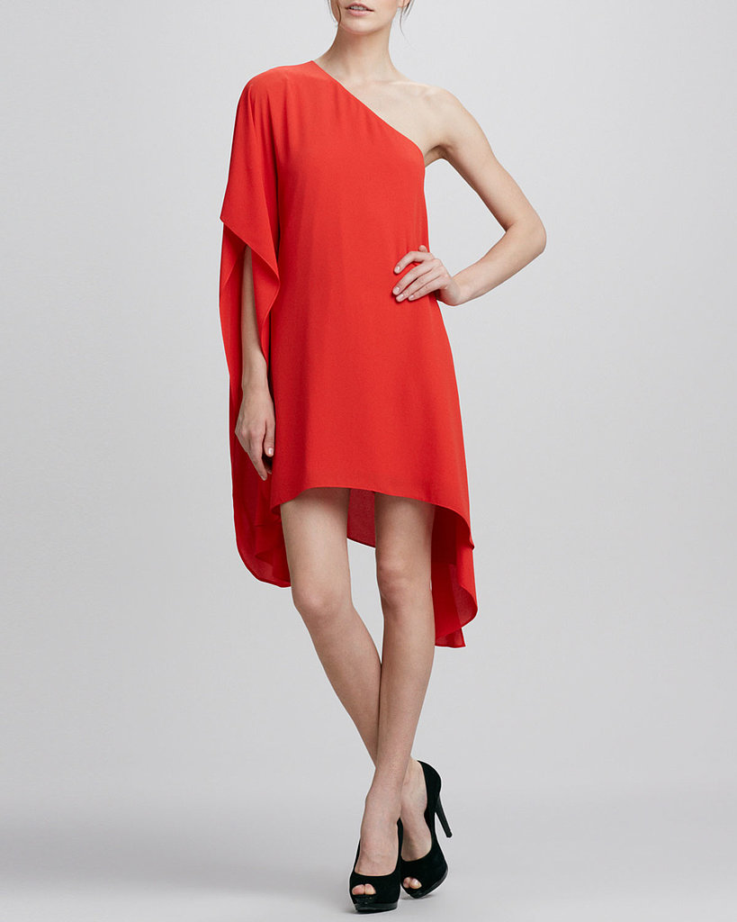 You're pretty much guaranteed to be a standout in this boldly-colored BCBG Max Azria sweeping one-shoulder dress ($198).