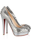 Christian Louboutin Alti Spiked Metallic Leather Pumps ($688 on sale)