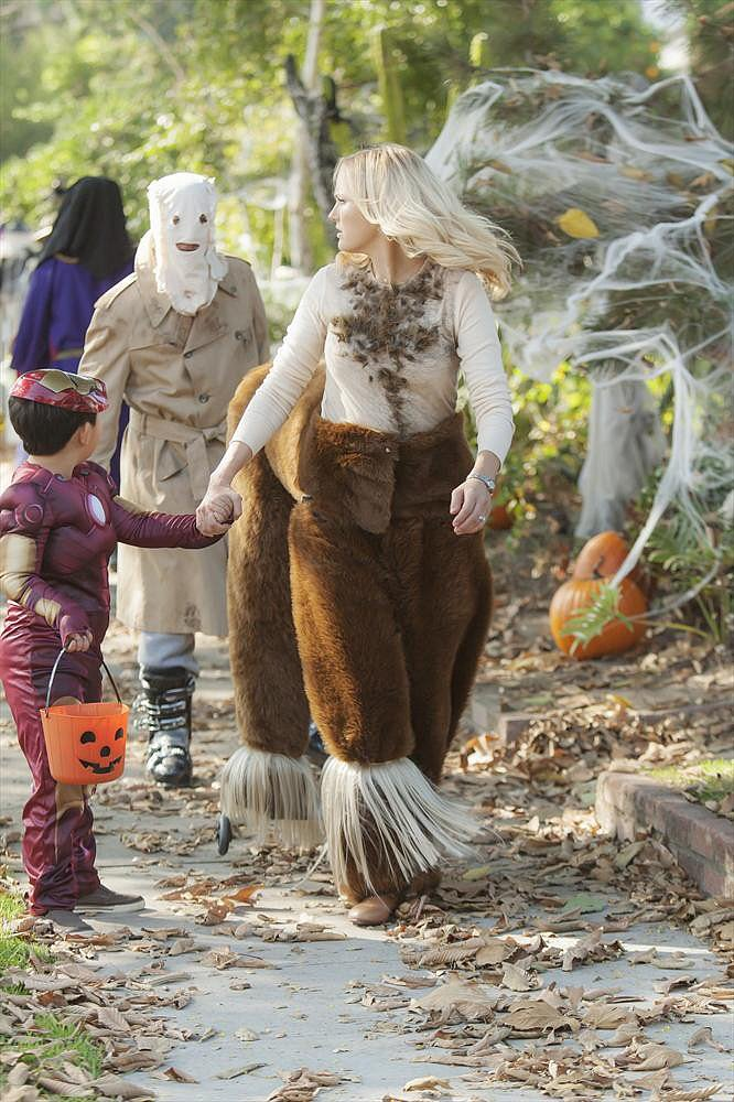Trophy Wife Kate (Malin Akerman) dons a centaur costume on the Halloween episode of Trophy Wife, airing Oct. 29 on ABC.