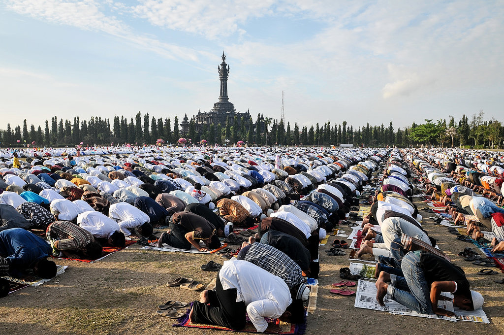 Thousands of Muslims participated in an Eid al-Adha mass in Indonesia.
