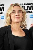 Kate Winslet let her hair down for the press conference for her film Labor Day.
