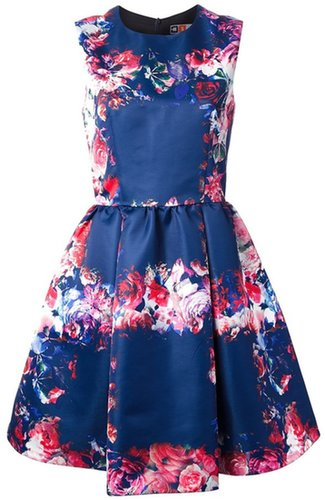 Msgm sleeveless floral dress
