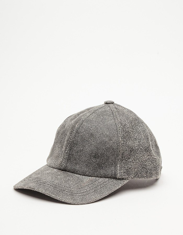Worn-in gray leather gives the feel of an item you've owned — and loved — for years. The weathered look of this Need Supply Co. find ($88) will fool everyone into thinking you've had it forever.