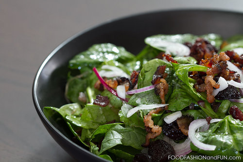 Let's Eat | Spinach Salad with Warm Bacon Vinaigrette