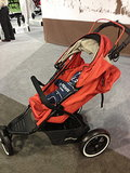 Baby Jogger's Navigator features an auto stop brake that prevents strollers from rolling away from parents.