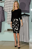Rosie Huntington-Whiteley launched her nightwear in a slim ensemble.