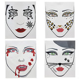 Temporary Face Tattoos For Easy Halloween Costume Ideas
