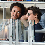 Tom Cruise With Son Connor Cruise at a Dodgers Game