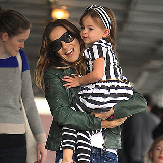 Sarah Jessica Parker With Twin Daughters in Stripes in NYC