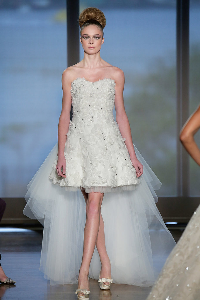 The trends of the wedding dress UK fall 2014 short style 3