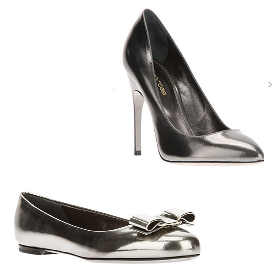 Above: Sergio Rossi Stiletto Pumps  ($631) Below: Salvatore Ferragamo Round-Toe Ballet Flats ($463)