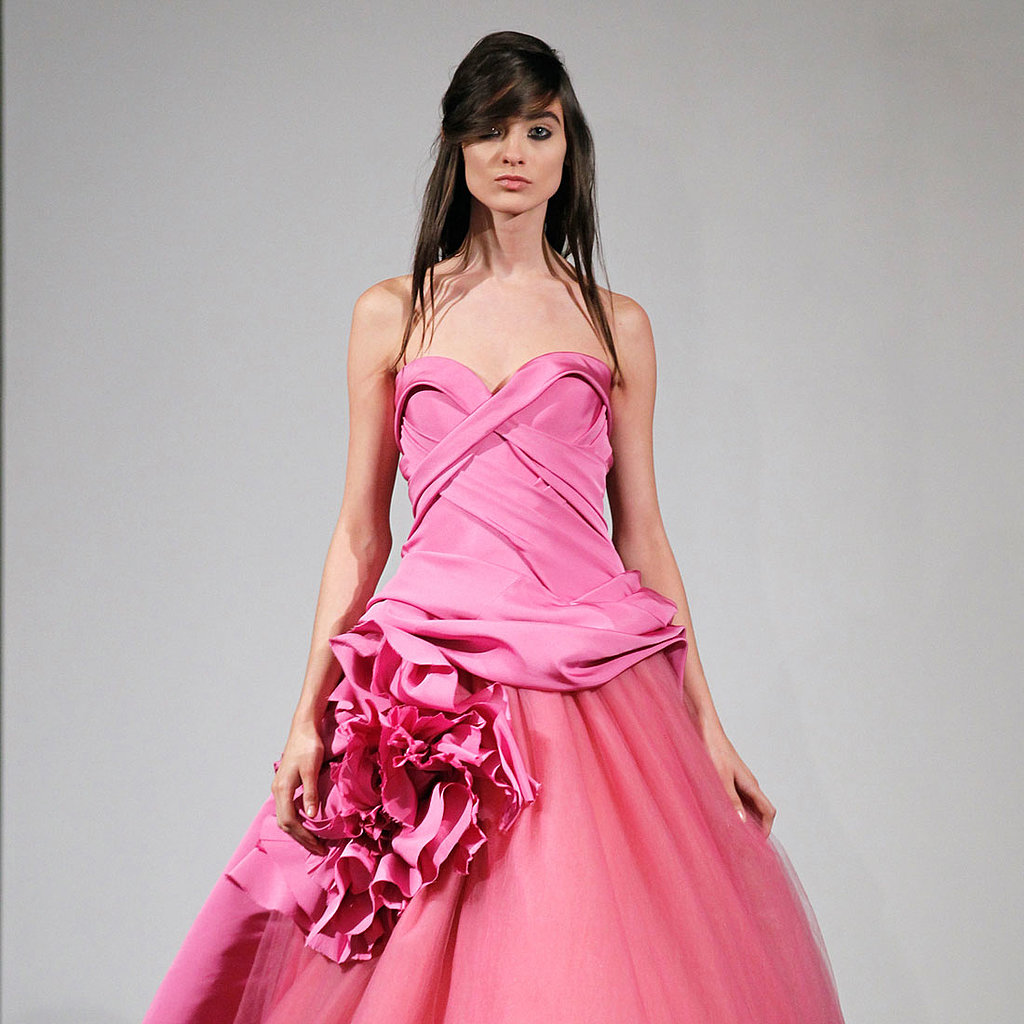 The trends of the wedding dress UK fall 2014 pink type 1