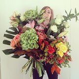 We think we see Chiara Ferragni behind that bouquet, but we can't be quite sure. Source: Instagram user chiaraferragni