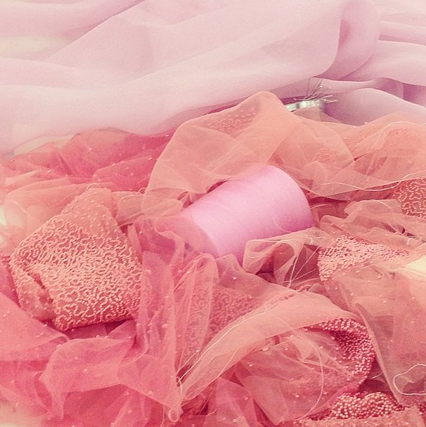 Vera Wang got us thinking pink for bridal! Source: Instagram user verawanggang