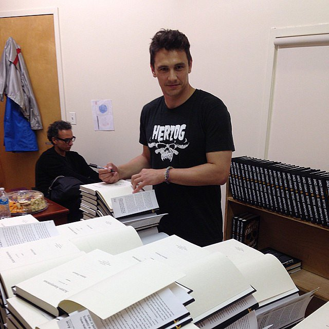James Franco signed copies of his book Actors Anonymous for fans. Source: Instagram user jamesfrancotv