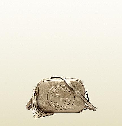 Soho Metallic Leather Disco Bag