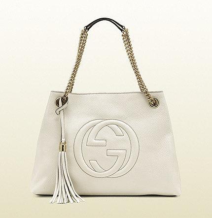 Soho Medium Off-White Leather Shoulder Bag