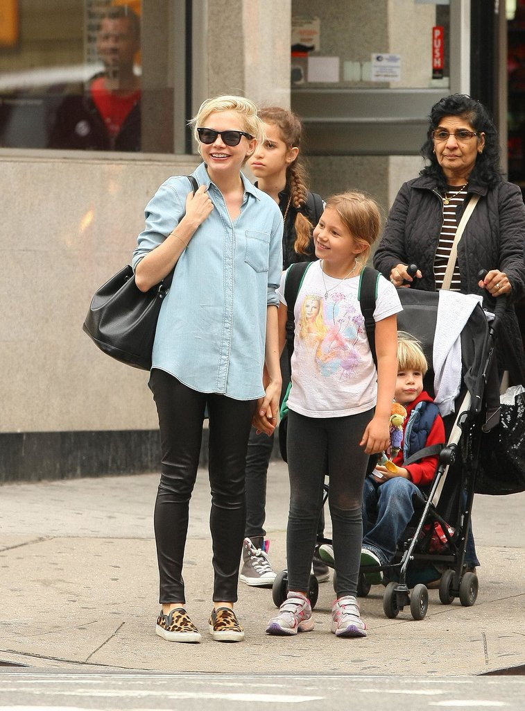Michelle Williams and Matilda Ledger held hands in Brooklyn.