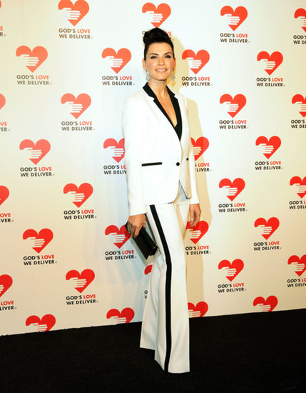 Julianna Margulies wore a white suit.