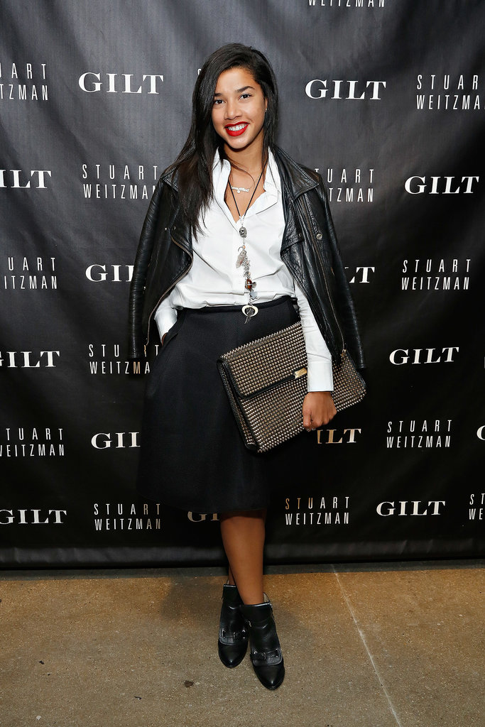 Hannah Bronfman layered her crisp separates at Gilt's 20th anniversary bash for Stuart Weitzman.