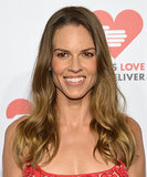Hillary Swank's glowing complexion matched her breezy hairstyle perfectly.