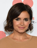 Loads of liner and a curled bob were Miroslava Duma's look du jour.