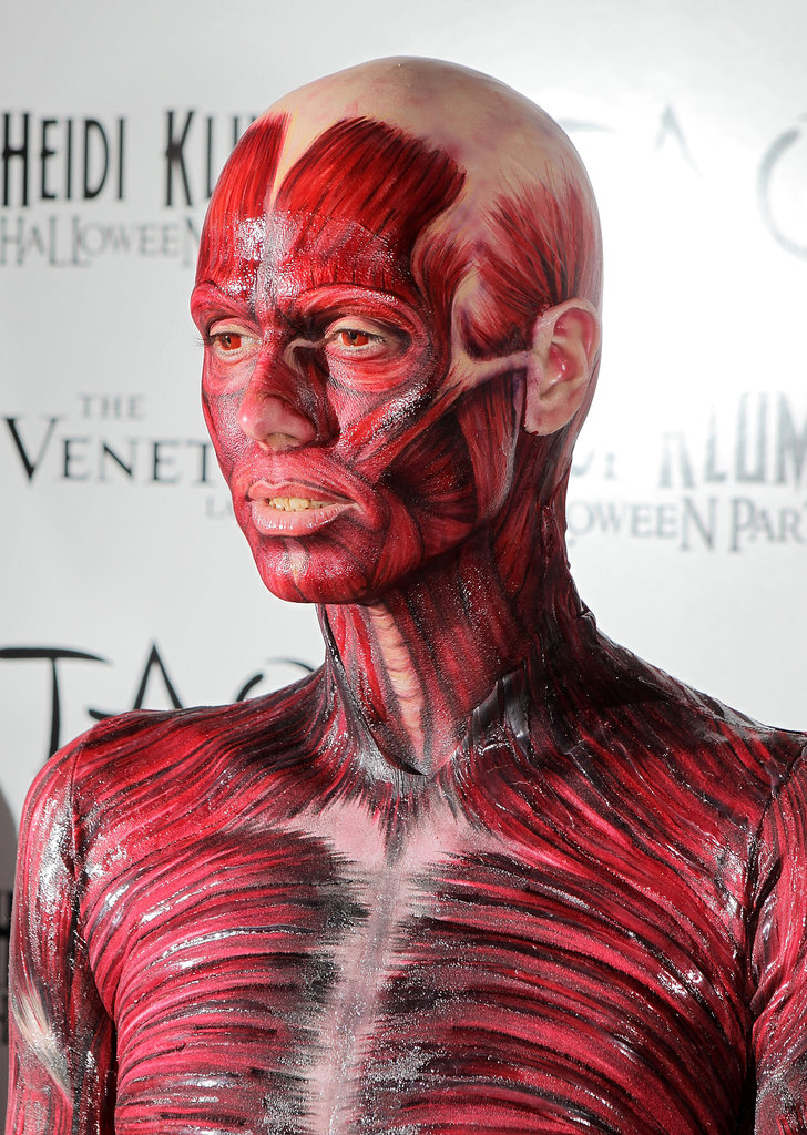 Heidi went with a second costume in 2011. And her impressively painted-on take on a human muscle system felt more like a model from the Body Worlds exhibit.