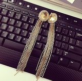 These are the longest earrings we've seen this season! Leave it to Erickson Beamon Rocks.
